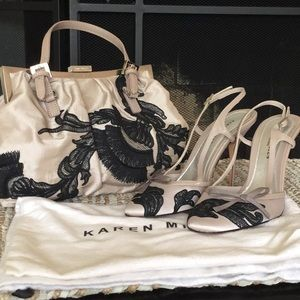 Karen Millen Lace Leather Shoes Only - New No box